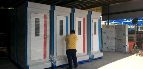 Nhà vệ sinh di động cung cấp tại nhà hàng bánh pía Tân Huê Viên, Sóc Trăng