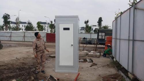 Nhà vệ sinh di động Vinacabin V17.3 được giao tại Vinhome Hải Phòng