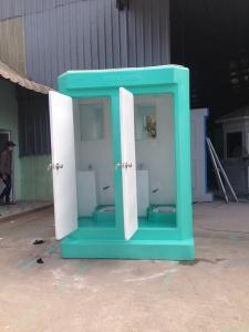 Nhà vệ sinh di động Vinacabin lắp bàn cầu thấp để giảm giá thành