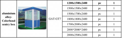Các loại kích thước của nhà bảo vệ khung nhôm kính