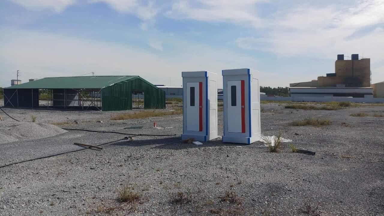 Nhà vệ sinh di động Handy H17.2 dành cho chuyên gia nước ngoài tại công trường