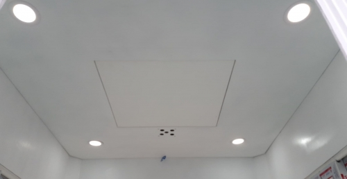 Trần lắp 4 đèn dowlight