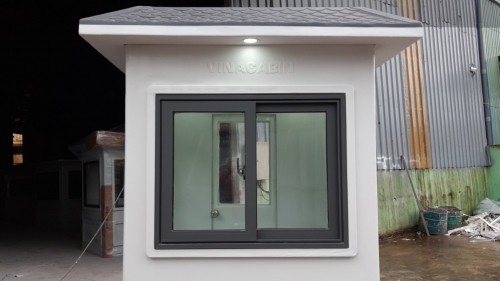 Chốt bảo vệ Vinacabin sử dụng cửa nhôm Xingfa và kính temper 8mm