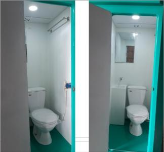 Nội thất nhà vệ sinh di động đôi VINACABIN V17.2C