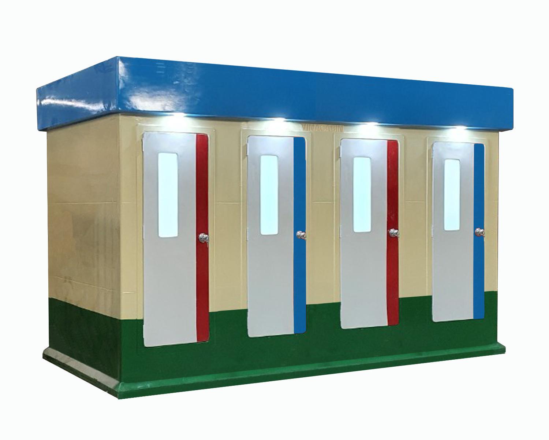 Toilet công cộng di động 4 cabin